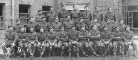Group photograph of Officers and NCOs of A Coy, 9th (Essex) Parachute Battalion