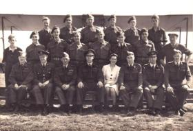Group portrait of glider pilot training course, probably 1942