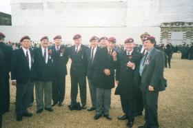 Group photo of members of the Guards Para Assn at Cenotaph Parade, 2004