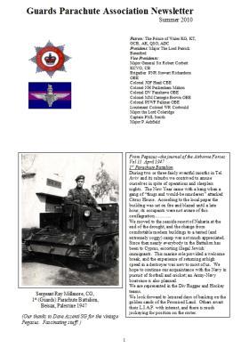 Guards Para Association Newsletter, Summer 2010