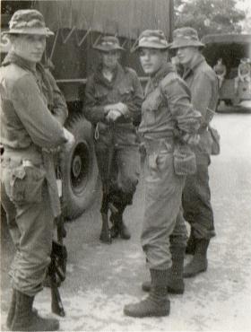 Guards Paras at the Road Head, North of Ipoh, Malaya, 1964