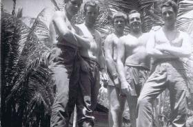 Guardsmen of Guards Para Coy relax in Borneo