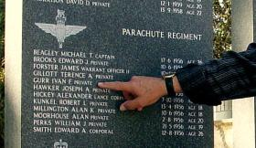 Memorial tablet of Parachute Regiment soldiers who died in Cyprus, 1956