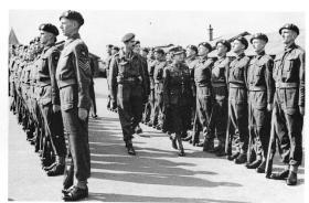HRH Princess Royal inspects the newly-formed 6th Airborne Divisional Signals, Bulford, Sept 1943