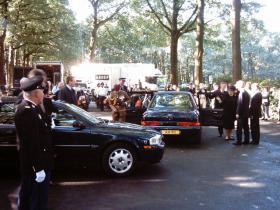 HRH Prince Charles Arriving at Oosterbeek Cemetery Sept 2004