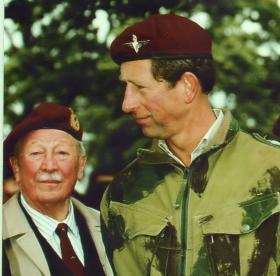 Shan Hackett and HRH Prince Charles at Arnhem 50th Anniversary, 1994
