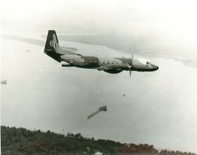 Hawker Siddeley Andover aircraft in flight