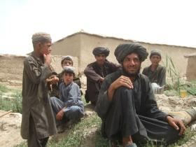 Group of locals in Afghanistan, 2008