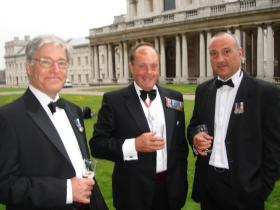 Messrs Neame, Crosland and Standish at the Heroes Dinner, Greenwich, 2007.