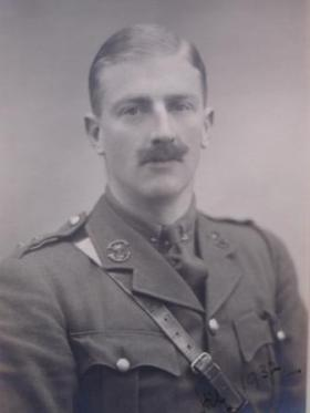 Portrait of Hilaro Nelson Barlow, as a Lieutenant in Somerset Light Infantry, 1932