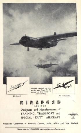 Horsa advert from Pegasus Journal, 1947