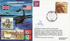 Operation Husky Commemorative Cover signed by Lt Galpin