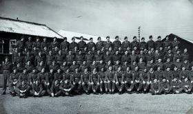 Group portrait of 3rd Parachute Battalion, Palestine