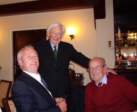 Lewis Kemp pictured with Maj Tony Hibbert at the Arnhem 1944 Fellowship meeting, September 2010.