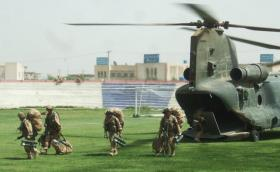 International Security Assistance Force arrives as Kandahar Stadium