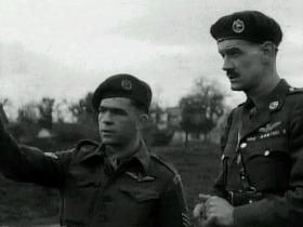 Maj Ian Toler with a Glider Pilot, 1946
