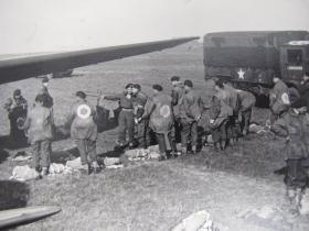 Paratroopers prepare for an exercise prior to the Rhine Crossing operation, early 1945