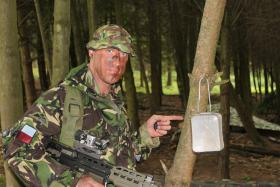 """Phil Stout whilst on Intro Exercise 1, ITC Catterick, 2010 - """"Joe puts stuff everywhere!"""""""