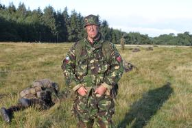 WO2 Phil Stout pictured on Intro Exercise 2, ITC Catterick, 2010.