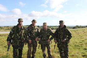 Group photo of part of the ITC PARA Catterick training staff, Intro Exercise 2, 2010.