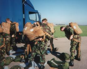 4 PARA Parachute Course recruits gearing up for their Skyvan descent.