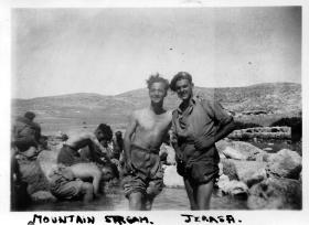 Relaxing by a mountain stream in Jerasa: 7th Oct 1946