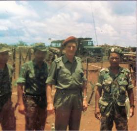 John Waddy over the border in Cambodia, 1971