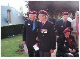John Waddy with Major Jack Watson (13 Battalion)