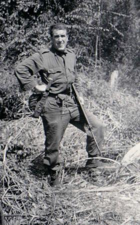Lance Corporal John West in Sarawak, Borneo, 1965 (?)