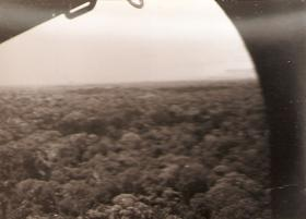 Jungle landscape of Ulu from a helicopter, Borneo, c.1965