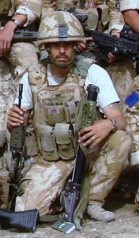 Mark Magreehan at Kajaki, Op Herrick 8, Afghanistan, 2008.