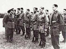 King George VI inspecting men of 11 SAS Battalion near Windsor, May 1941