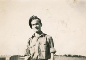 Ken Edwick in Palestine, 1946