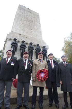 Guards Independent Coy veterans, Remembrance Sunday 2009