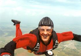 Kevin Waterhouse during a Freefall with the Red Devils, 1990s