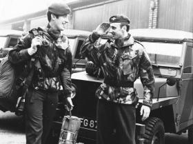 Pte Boyle, A Coy and Pte Heaton, HQ Coy, 4 PARA, 1975.