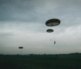 The LLP Parachute from the DZ at RAF Weston on the Green