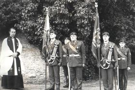 Presentation of the new Colours, 4 PARA, 1974.
