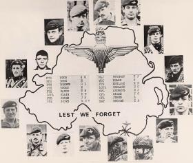 'Lest We Forget' - soldiers killed in the Warrenpoint bombing