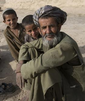 Local national with his sons in Maywand District, Afghanistan 2008
