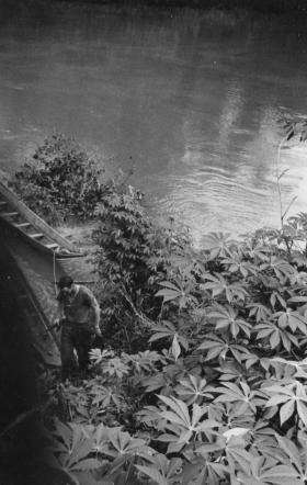 Fetching water for Guards Para Coy 98 Patrol, Sarawak, Borneo, 1964