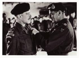 Lt. Col. Darling receiving his DSO from Field Marshal Montgomery