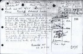 Military Cross citation for Lt Edward Pool, July 1944