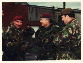 Lt. Gen Sir Hew Pike with RSM Noble