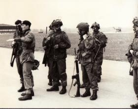 Lt James Emson & men from 2 PARA, RAF Odiham, c1960.