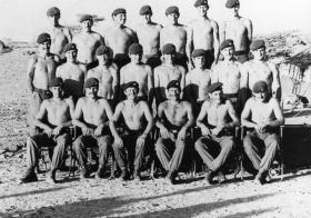 Group photograph of Machine Gun Platoon, 3 PARA, Sudan, 1975