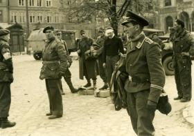 Members of 6th Airborne Division take the German surrender at Wismar, 1945