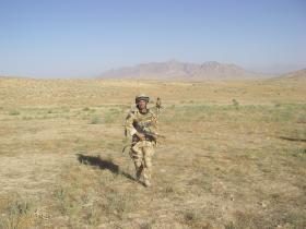 Jason Connolly patrolling in Zabul, Afghanistan, 2008