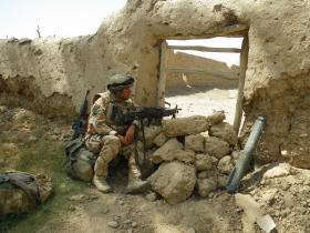 On Stag duty Kajaki Sofla, Afghanistan, 2008.