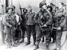 Members of 6 Platoon, B Coy, 2nd Parachute Battalion, near Arnhem Bridge, September 1944